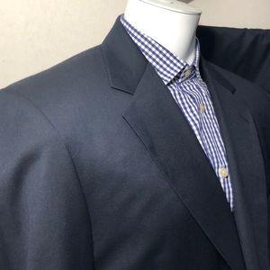 Jos A Bank Signature Suit Navy Blue 100% Wool 44L
